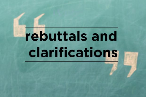 Rebuttals and clarifications