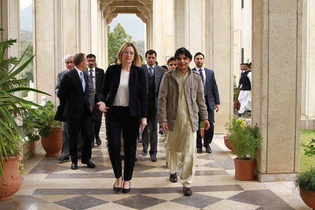 Amber Rudd in Pakistan